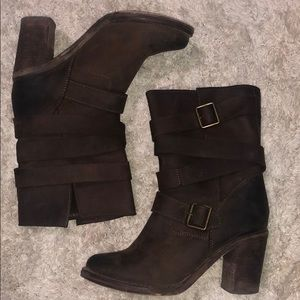 Jeffrey Campbell France Heeled Wrap Strap Brown